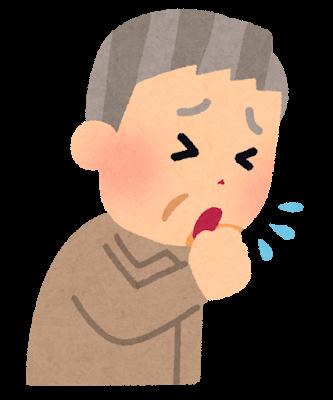 咳をしているお爺さんのイラスト
